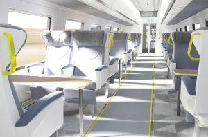 Rail Baltica train - first class